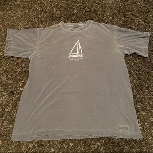 Life is Good oversized sailboat tee
